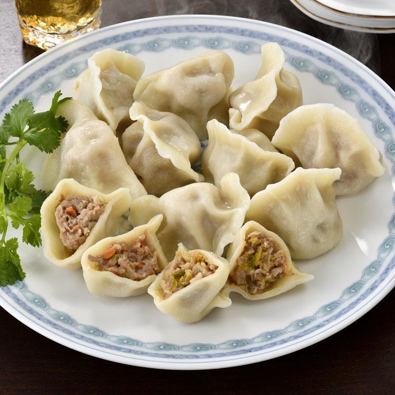 「味坊」の羊肉串10本 水餃子6種30個