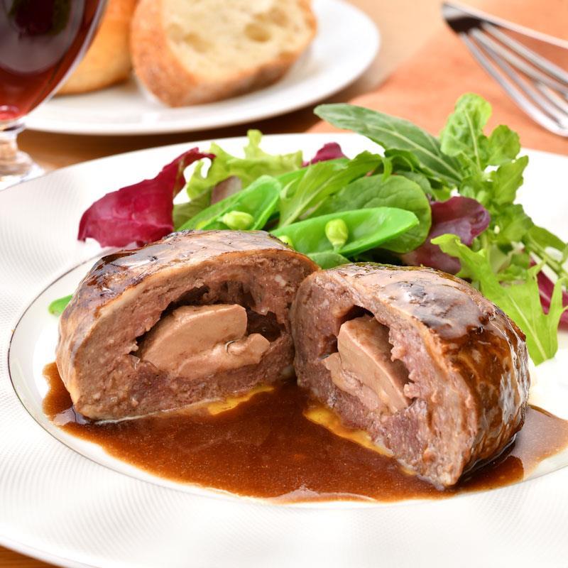 レストラン『レグリス』の贅沢ハンバーグ 2種